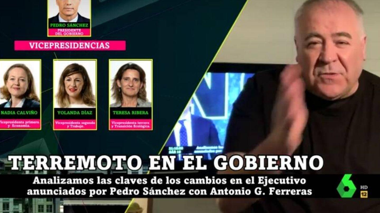 Ferreras, en 'La Sexta noche'. (Atresmedia).