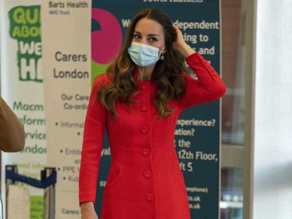 Foto: Kate Middleton, en el Royal London Hospital. (Gtres)