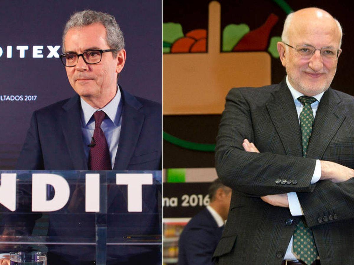 Foto: Pablo Isla, presidente de Inditex, y Juan Roig, de Mercadona