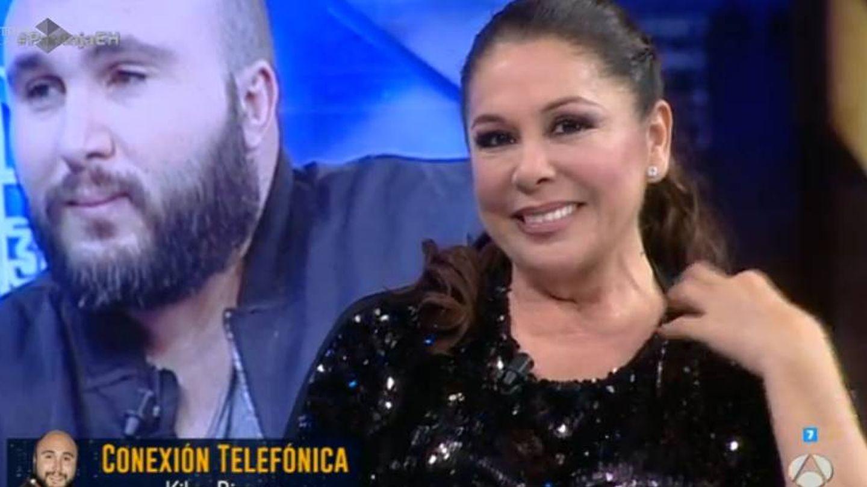 Kiko Rivera sorprende a Isabel Pantoja con una llamada telefónica en 'El hormiguero'. (Antena3)