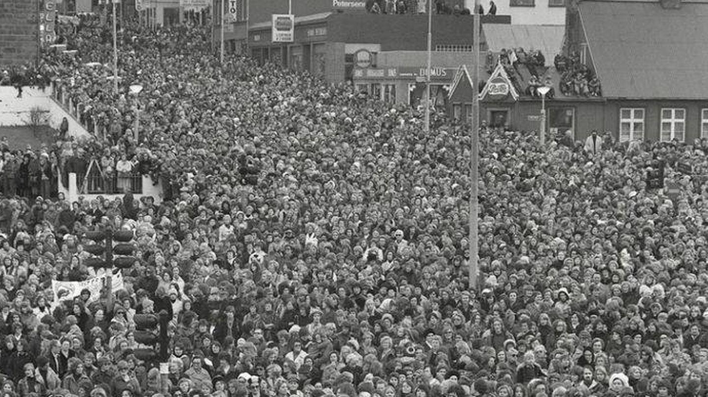 La capital de Islandia se llenó de mujeres en 1975.