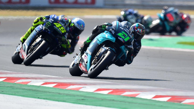Morbidelli y Rossi, durante el transcurso de la carrera. (Reuters)