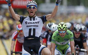 Marcel Kittel gana su segunda etapa del Tour y demuestra que no tiene rival al 'sprint'