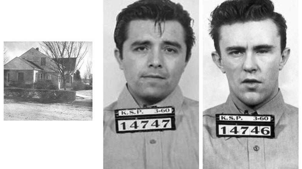 Foto: Richard Hickock y Perry Smith asesinaron a la familia Clutter en su casa de Holcomb, en Kansas. (Garden City Police Department)