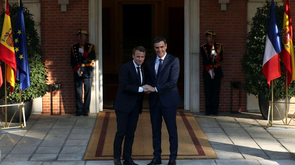 Foto: Emmanuel Macron y Pedro Sánchez. (Reuters)