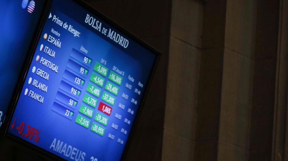 Foto: Pantallas de la Bolsa de Madrid