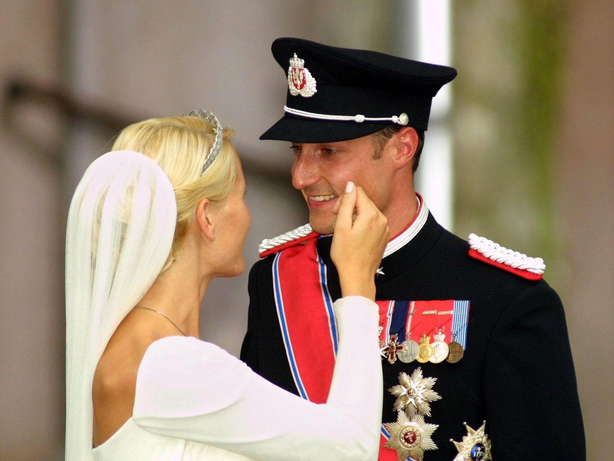 Foto: Haakon y Mette-Marit, el día de su boda. (Getty)