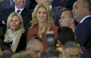 Shakira 'reina' en el palco de autoridades