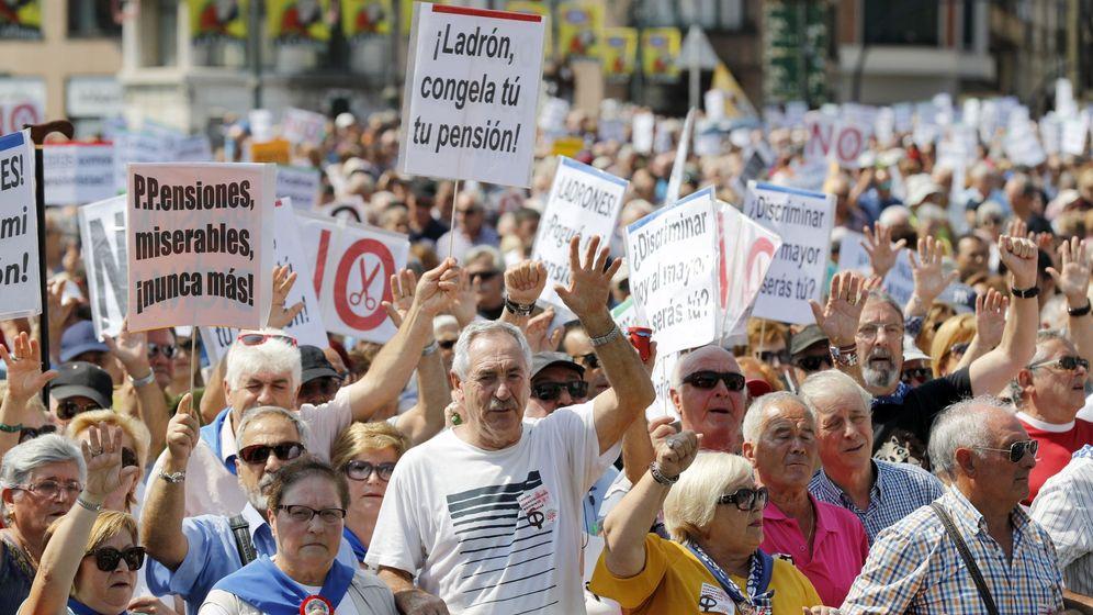 Foto: Movilización en Bilbao por unas pensiones dignas el pasado 20 de agosto. (EFE)