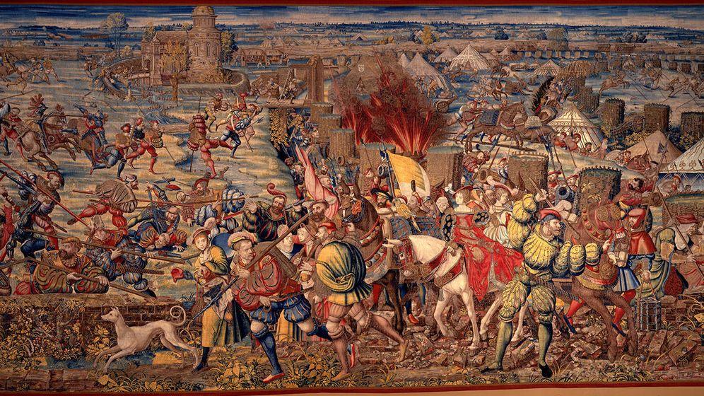 Foto: La batalla, según un tapiz de la época.
