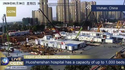 Siga en directo la construcción de un hospital en 10 días para frenar el coronavirus en Wuhan (China)