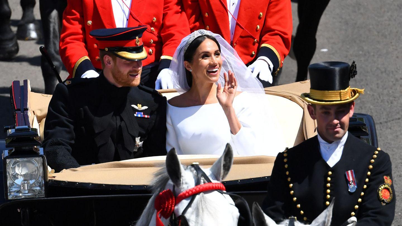 Meghan Markle y el príncipe Harry, el día de su boda. (Reuters)