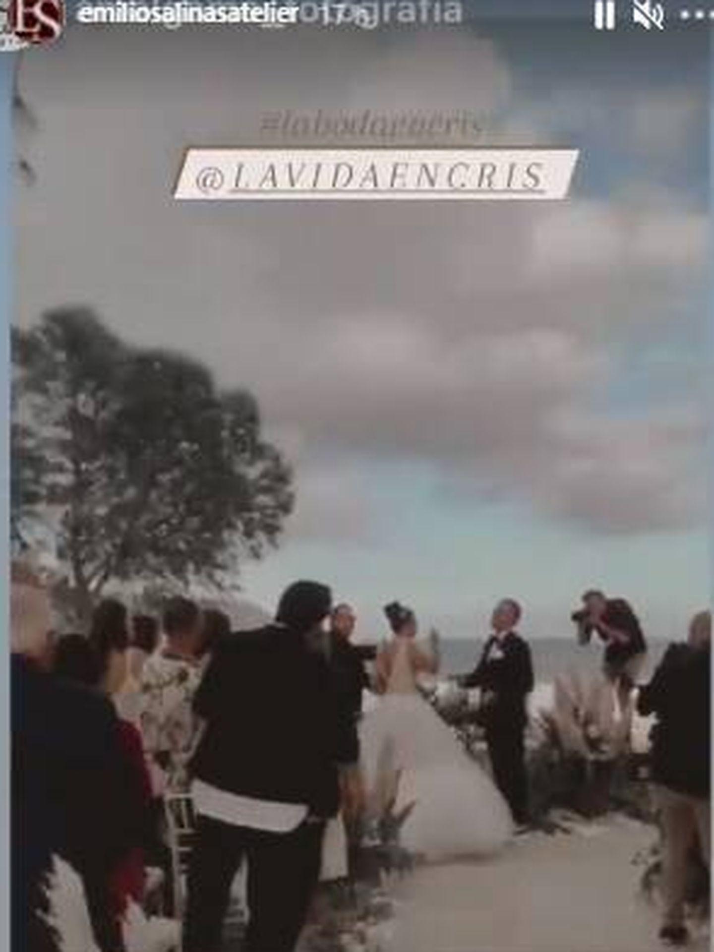 Cristina Rodríguez en la ceremonia de su boda. (IG)