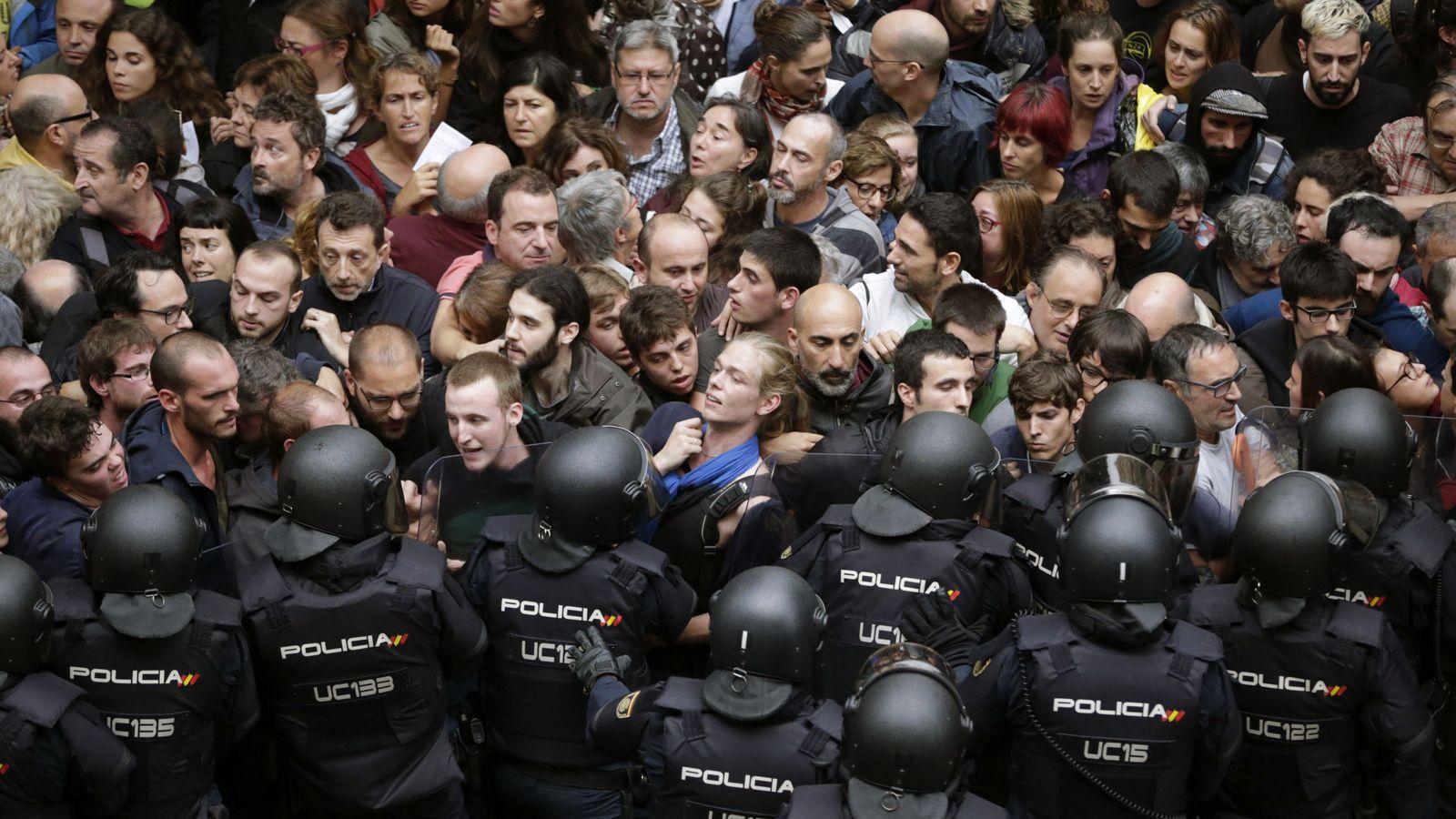 Foto: Protestas ayer en Barcelona. (EFE)