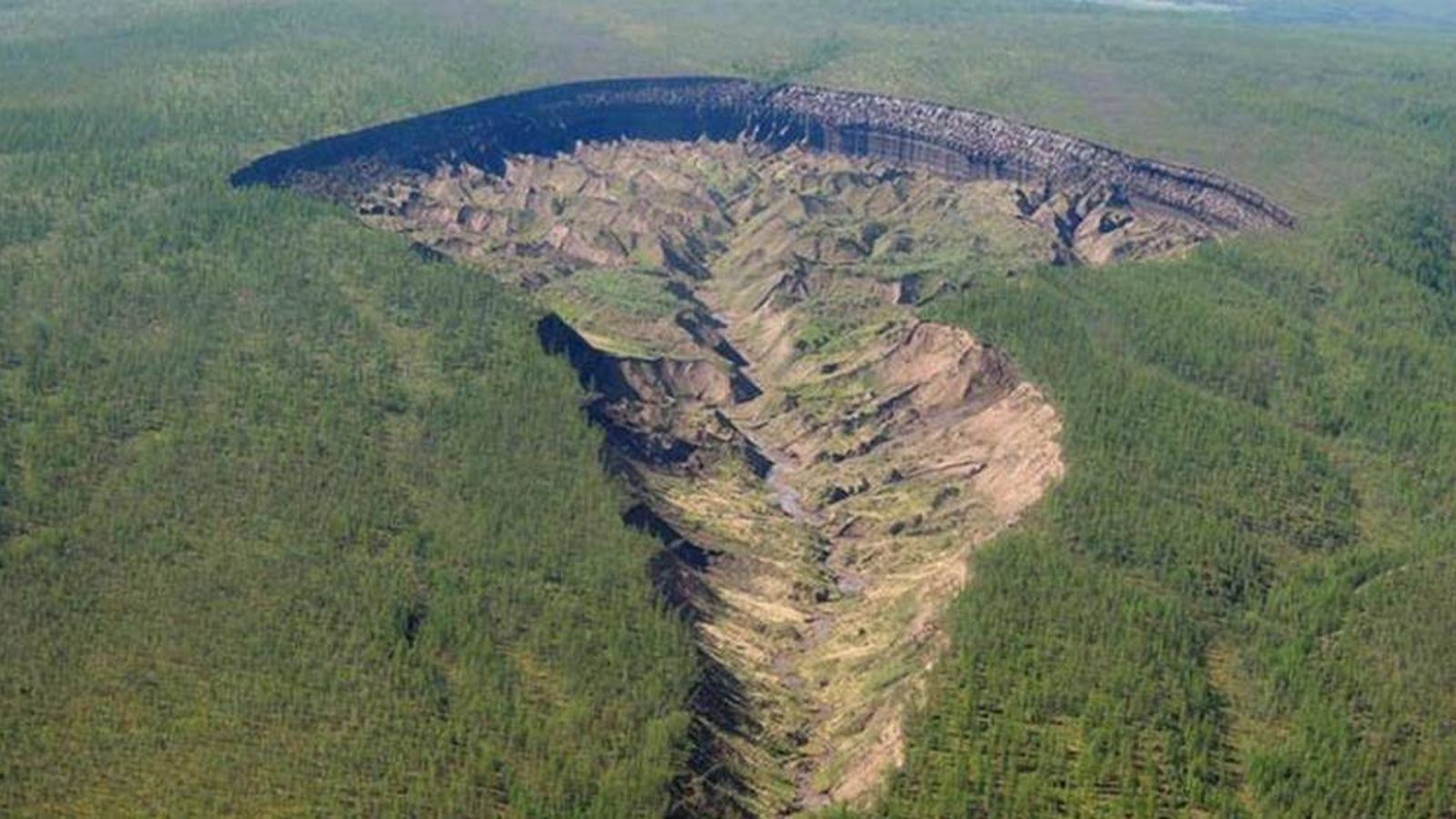 Foto: El impresionante cráter de Batagaika. (Research Institute of Applied Ecology of the North)