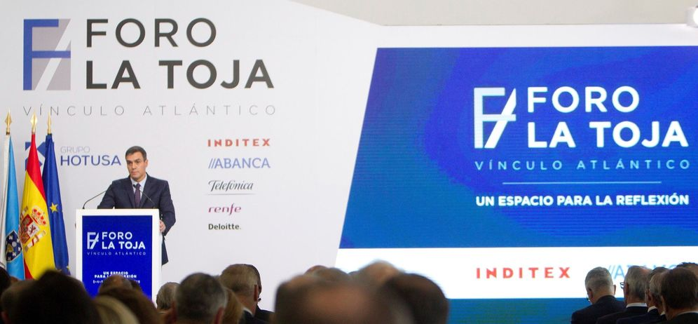 Foto: Pedro Sánchez, este 5 de octubre en la clausura del Foro La Toja-Vínculo Atlántico. (EFE)