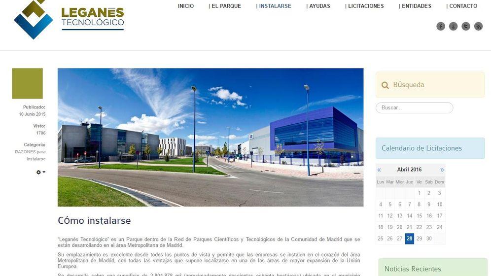 Foto: Web del consorcio del Parque Tecnológico de Leganés.