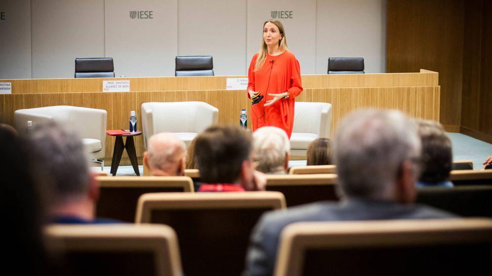 Foto: Cristina Sádaba, del IESE de Madrid, en el acto de este martes. (Carmen Castellón)