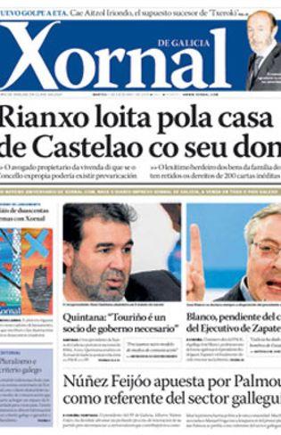 Foto: El constructor Jacinto Rey cierra 'Xornal', el periódico que lanzó al calor del bipartito gallego