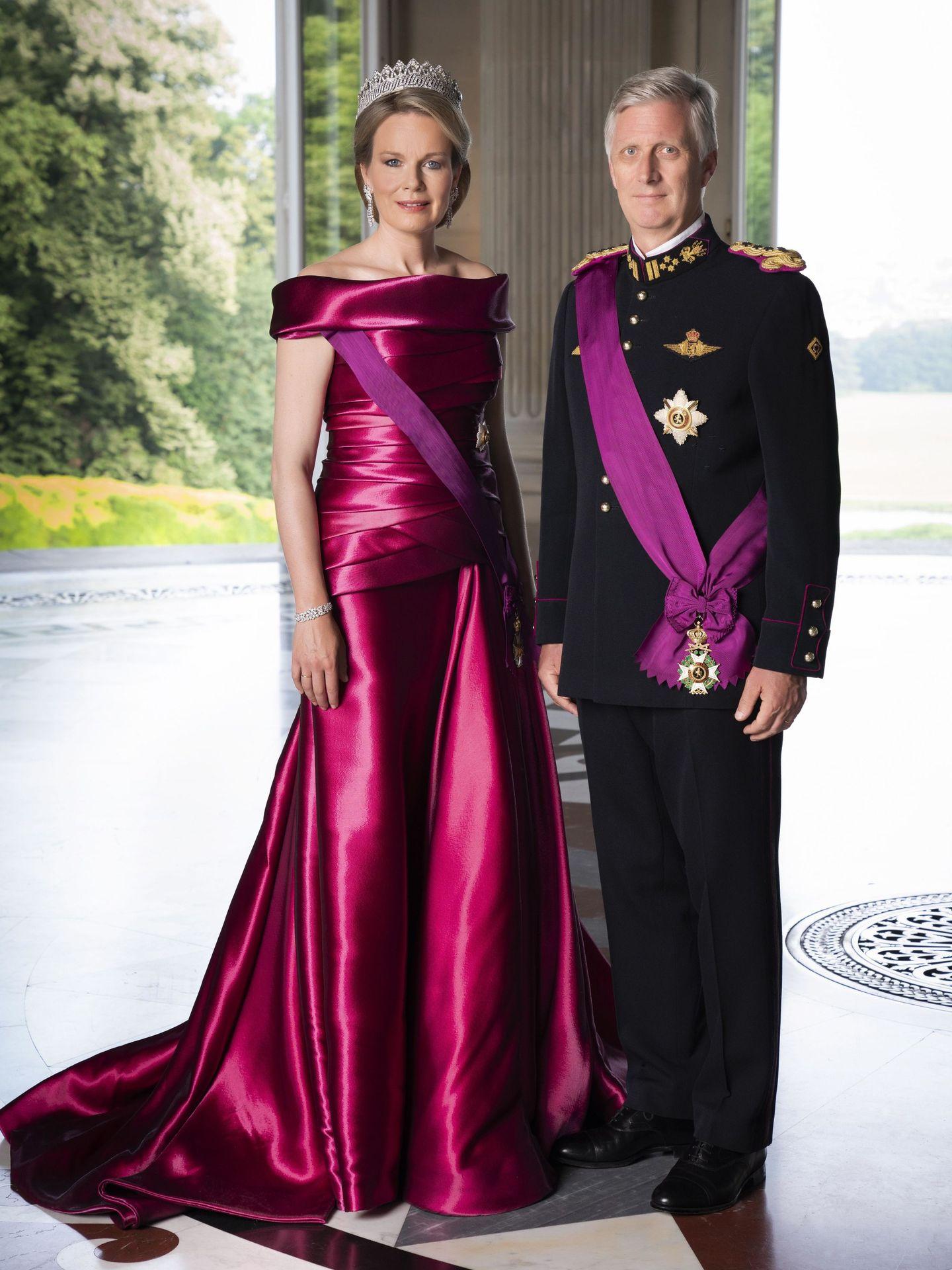 Fotografía de archivo de los reyes Felipe y Matilde, facilitada por el Palacio Real de Bélgica. (EFE)