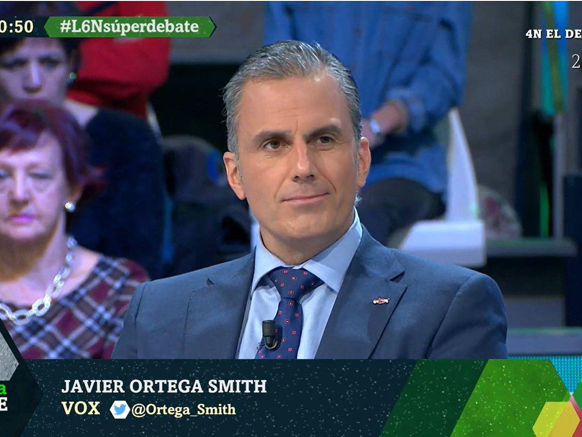 Foto: Javier Ortega Smith, en 'La Sexta noche'. (Atresmedia)