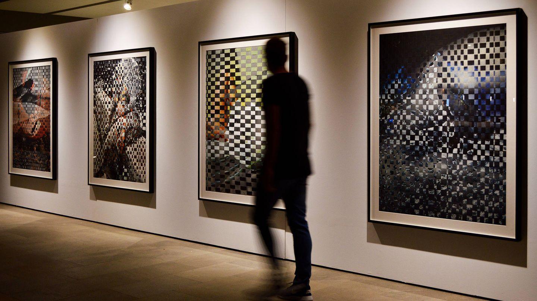 Imagen de algunas de las obras de Dubois expuestas hasta el 31 de octubre en WeCollect Club, en Paseo de la Castellana 22. (Cortesía)