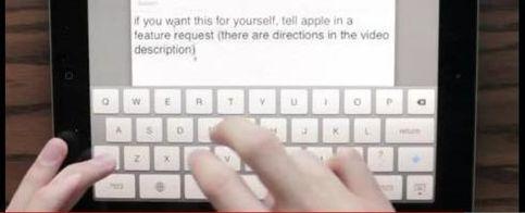 Foto: Un usuario revoluciona el teclado virtual del iPad