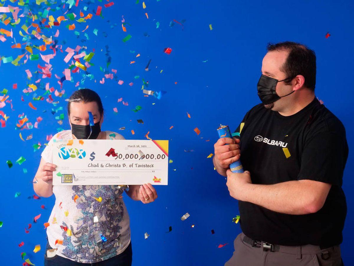 Foto: Chad y Christa Breyer tienen grandes planes para gastar su dinero (Ontario Lottery)