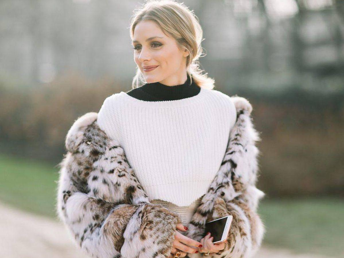 Foto: La it-girl Olivia Palermo con un abrigo de leopardo. (Instagram @oliviapalermo)