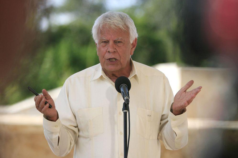 Foto: Felipe González, el pasado 4 de enero en Cartagena, Colombia, durante la reunión de la comisión de seguimiento de los Acuerdos de Paz. (EFE)