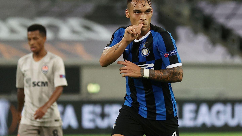 Lautaro Martínez, en plena celebración de un gol. (Reuters)