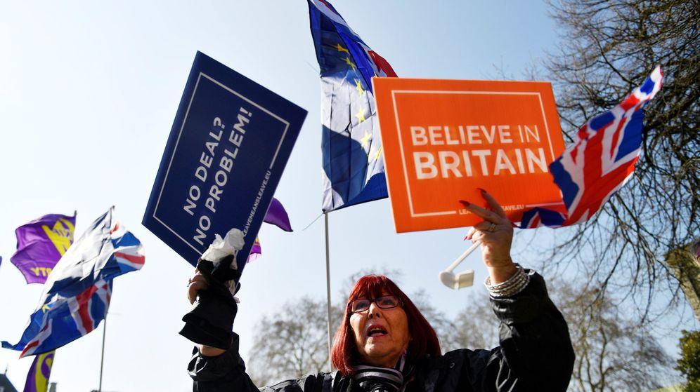 Foto: Manifestante a favor del Brexit. (EFE)