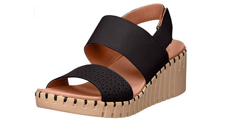 Sandalias Skechers Pier Ave, sandalias de talón abierto para mujer