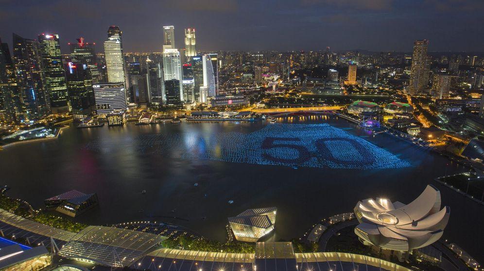 Foto: Singapur durante la celebración del 50 aniversario de su independencia. (EFE)