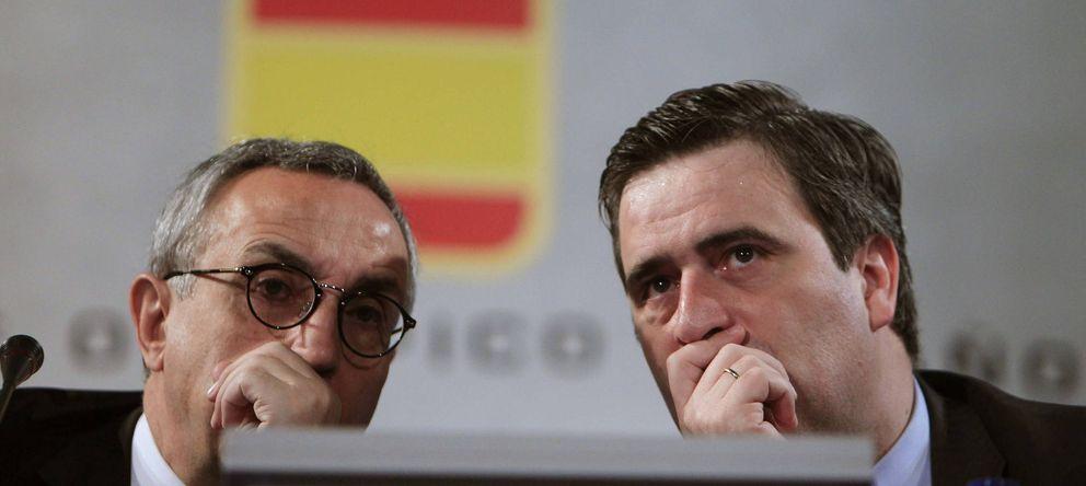 Foto: El presidente del COE, Alejandro Blanco, y el del CSD, Miguel Cardenal (Efe).
