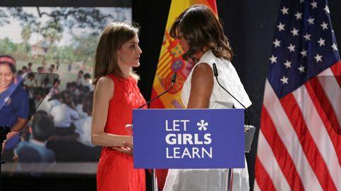 Doña Letizia y Michelle Obama presiden el acto de 'Let girls learn'