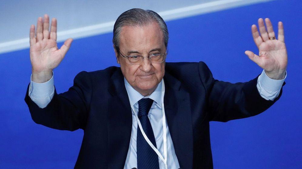 Foto: Florentino Pérez, aclamado durante una Asamblea General del Real Madrid. (EFE)