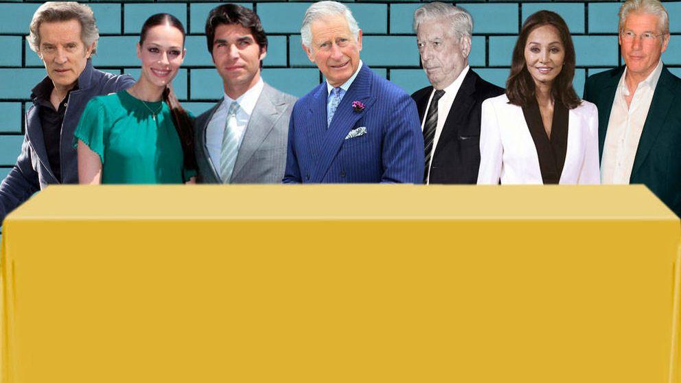 Preysler, Vargas Llosa, Gere y Alfonso Díez, invitados del príncipe Carlos