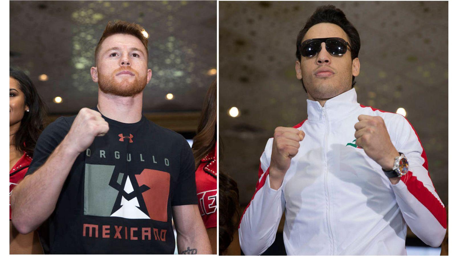 Foto: En la imagen,  Saúl 'Canelo' Álvarez y Julio César Chávez Junior. (EFE)