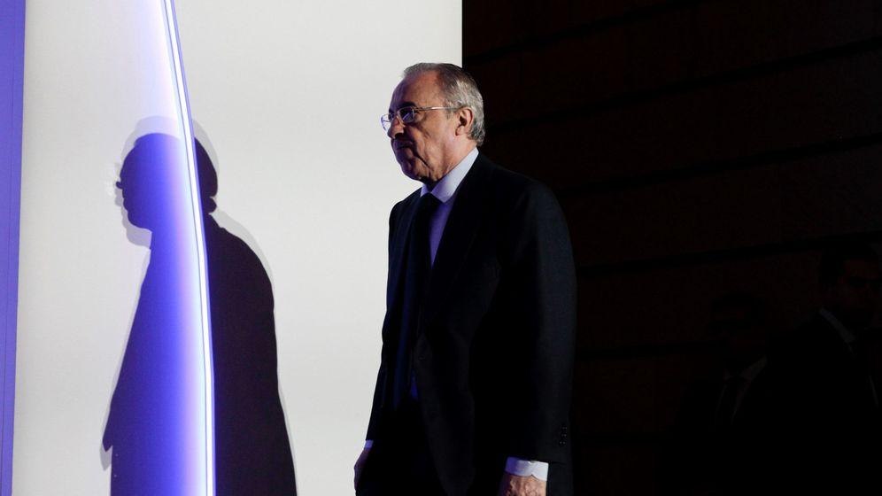 Foto: El presidente de ACS, Florentino Pérez, durante la junta de accionistas de la compañía. (EFE)