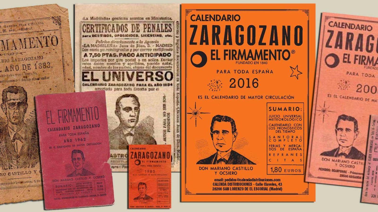 Foto: Varias ediciones de calendarios zaragozanos. (calendariozaragozano.net)