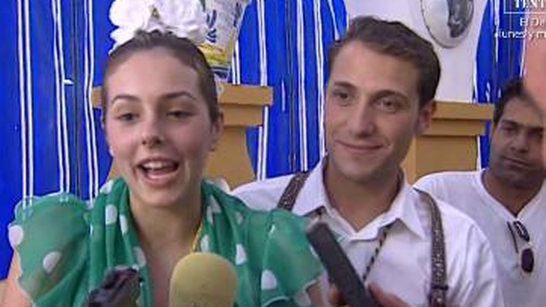 Rocío y Antonio David en el Rocío. (Mediaset)