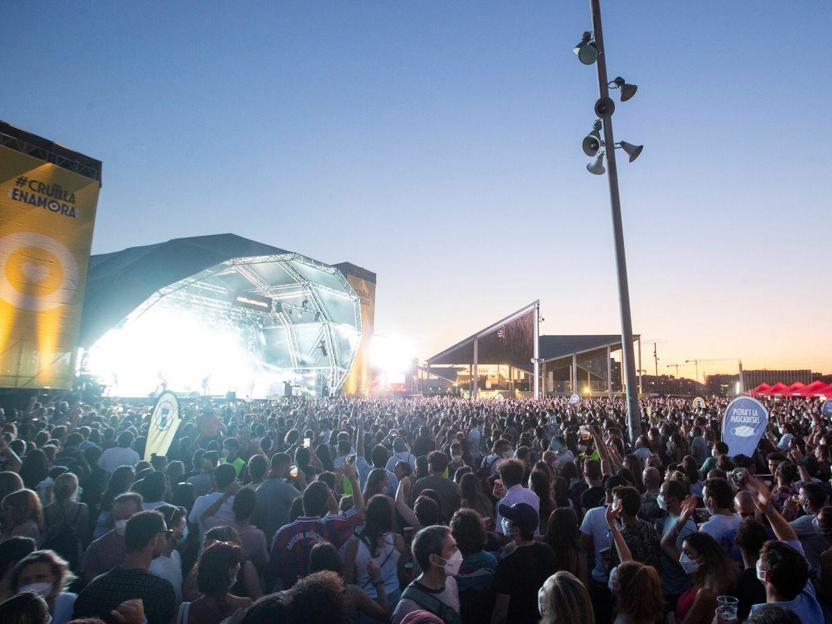 Foto: Ambiente en la tercera y última jornada del festival Cruïlla el pasado 10 de julio. (EFE)