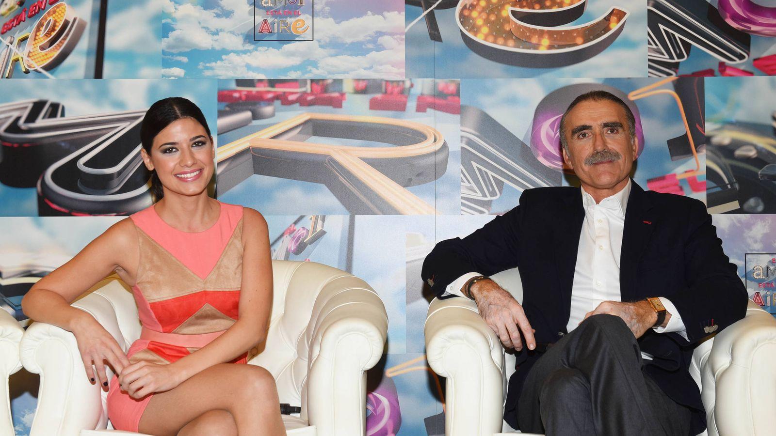 Foto: Ares Texidó y Juan y Medio en la presentación de 'El amor está en el aire'