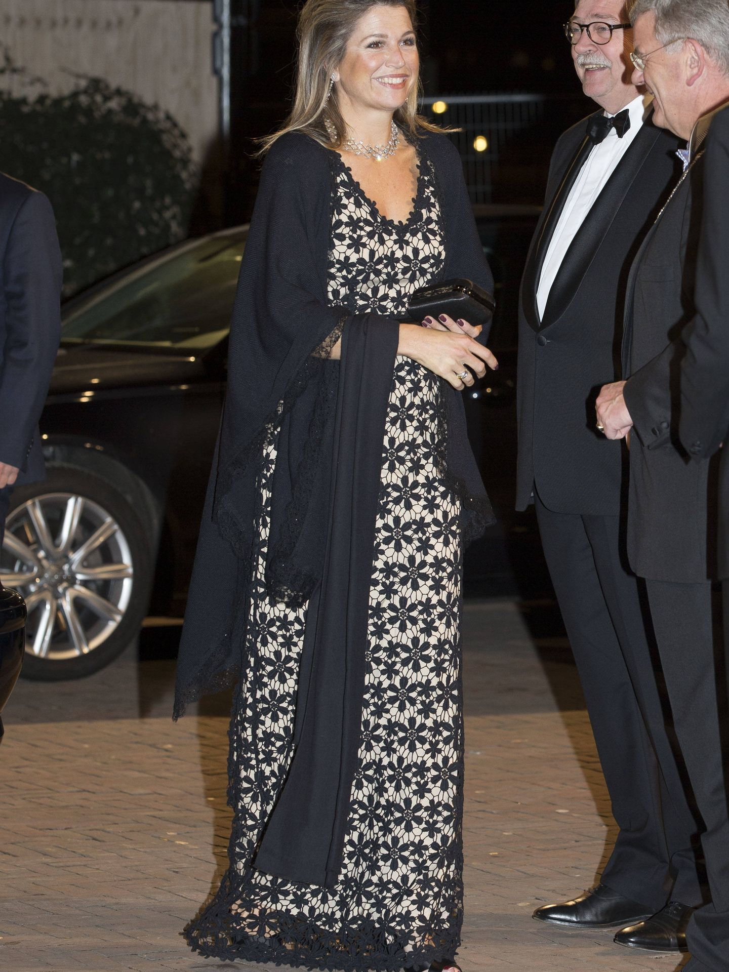 Máxima de Holanda, con vestido de Hoss Intropia. (Getty)