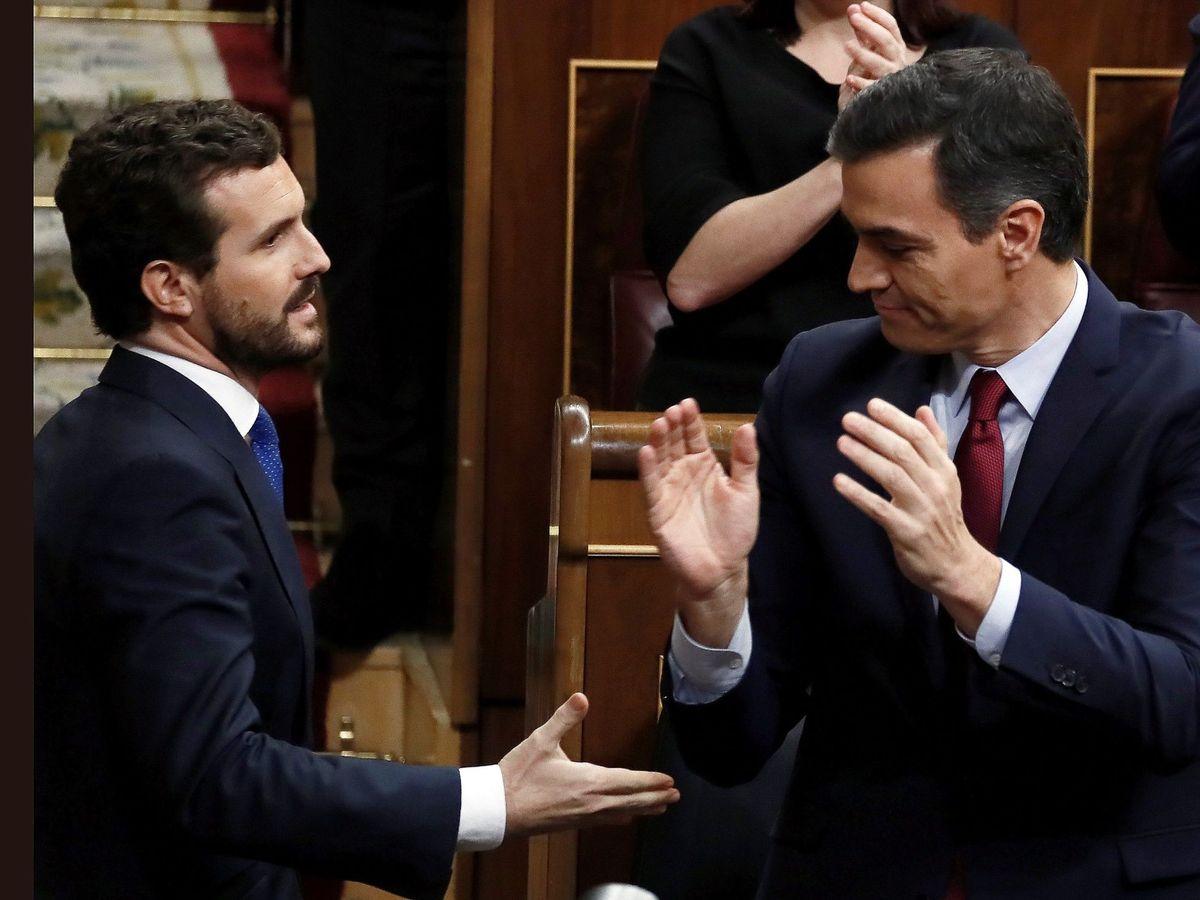Foto: Pedro Sánchez, con Pablo Casado. (EFE)