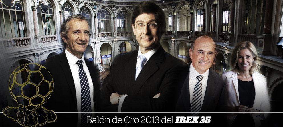 Foto: José Ignacio Goirigolzarri se alza con el 'Balón de Oro-Ibex 35' de 2013