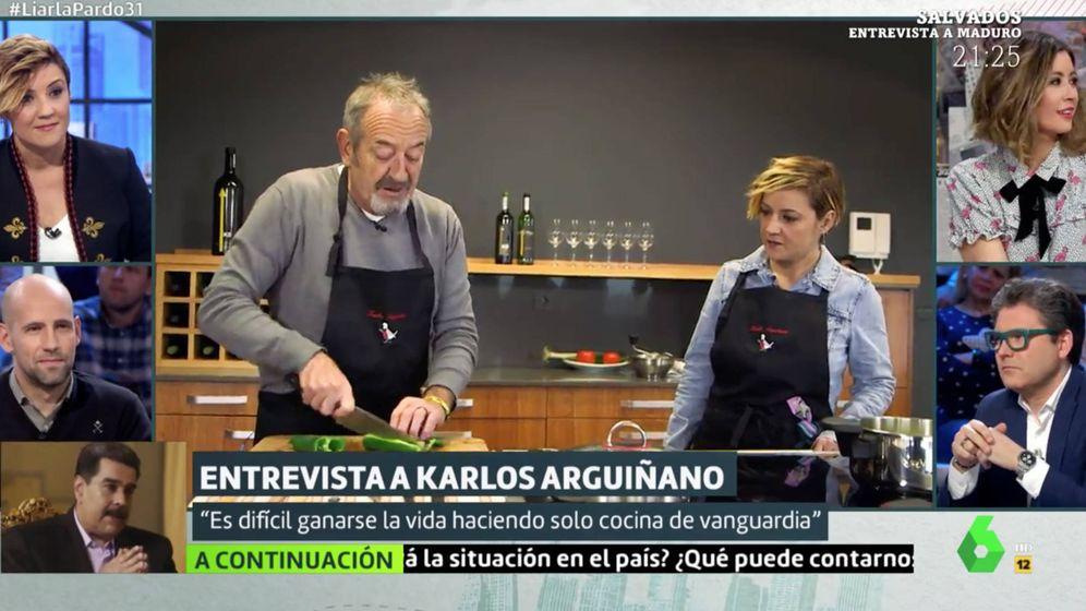 Foto: Cristina Pardo entrevista a Karlos Arguiñano en 'Liarla Pardo'. (Atresmedia)