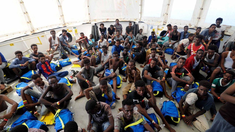 Foto: Todas las fotos del Aquarius con 141 inmigrantes a bordo