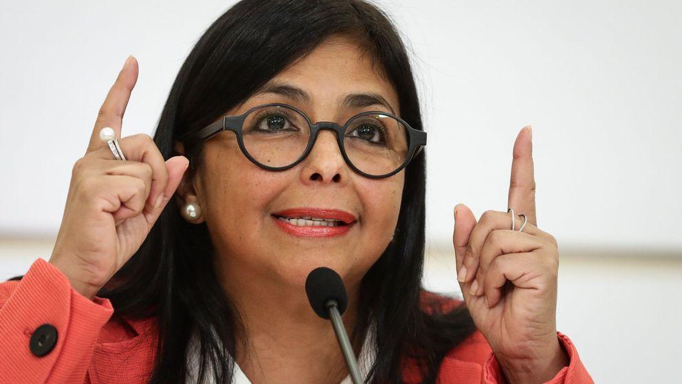 Delcy Rodríguez acusa a la derecha española de doble moral por el apoyo a Guaidó